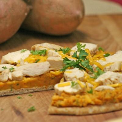Sweet Potato Chicken Flat Bread