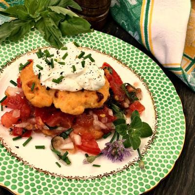 Tomato-Pimento Cheese Shortcakes