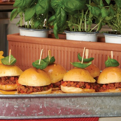 Mini Turkey Sloppy Joes