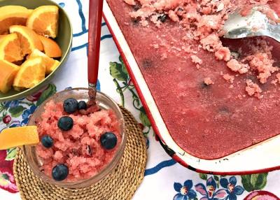 Watermelon & Blueberry Sunshine Granita