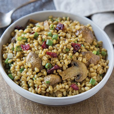 Roasted Mushroom Wheat Berry Salad