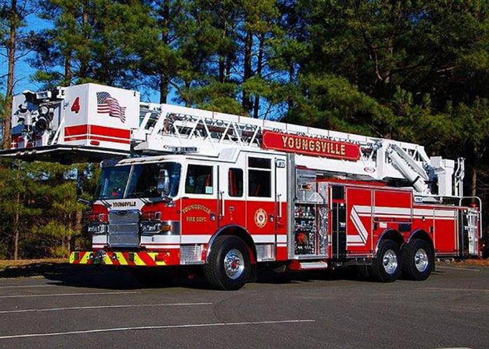 Wake Electric helps the Youngsville Fire Department buy a new truck