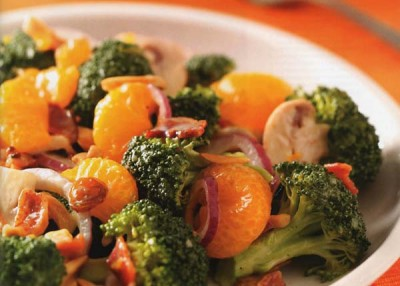 Fresh Broccoli and Mandarin Salad