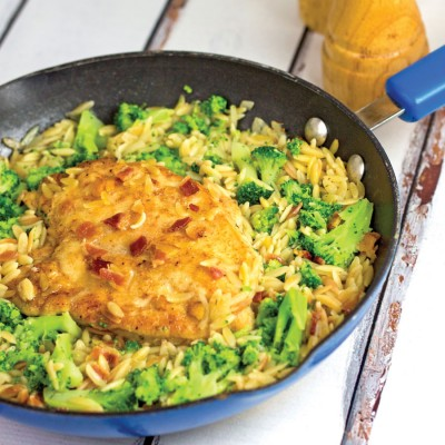 One-Pan Chicken & Orzo Skillet Dinner