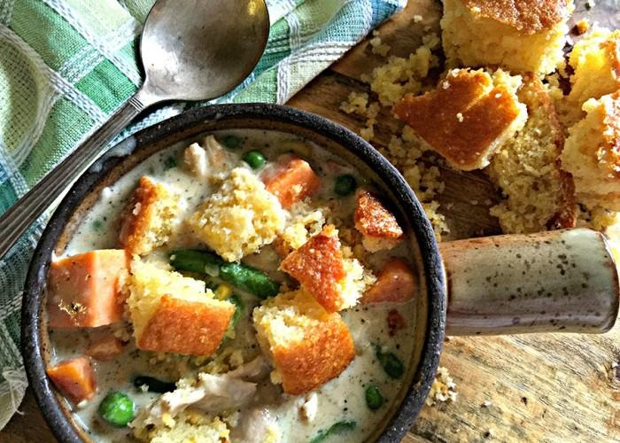 Rotisserie Chicken Pot Pie Soup