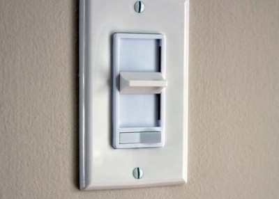 Dimmer switches can save energy