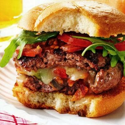 Mushroom-Stuffed Cheeseburgers