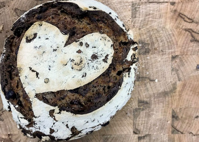 Sweetheart Chocolate Cranberry Rye Sourdough Bread
