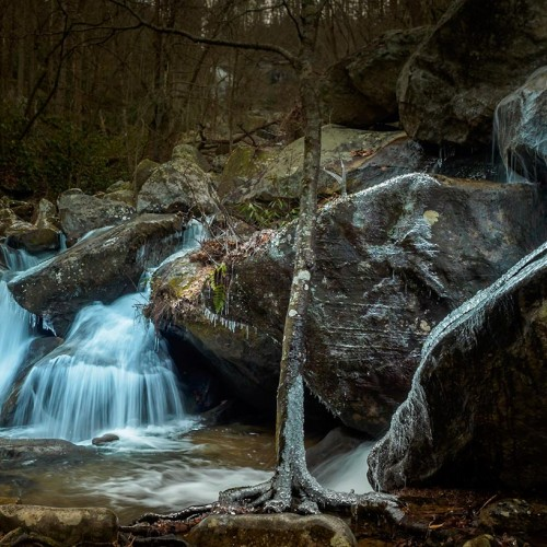 One very cold January day, I hiked in South Mountains State Park. While the big falls are always pretty to look at, the smaller falls below High Shoals Falls Trail are equally beautiful. —Joseph Lux, Mooresville, EnergyUnited