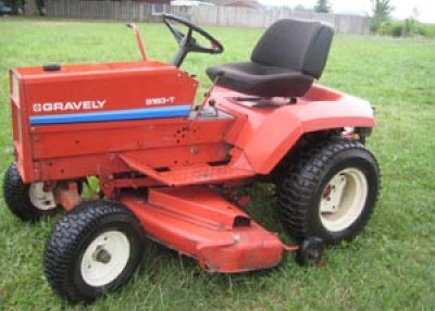 Driving the mower, a ride of passage