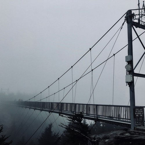 "On this day at Grandfather Mountain, there was heavy fog so I was able to capture this unique photo of the ""Mile High Swinging Bridge."" —Noah Coleman, Burlington, a member of Blue Ridge Energy"