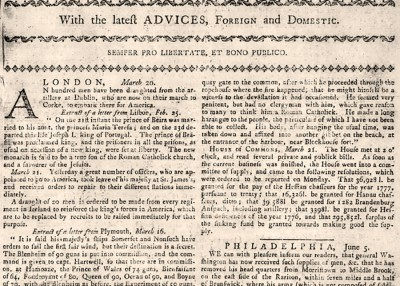Do You Know… That NC's Oldest Newspaper was Printed in 1751?