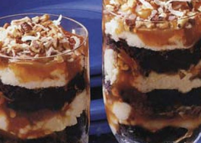Brownie Caramel Parfaits