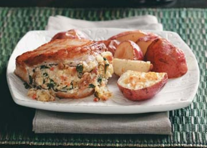 Savory Stuffed Pork Chops
