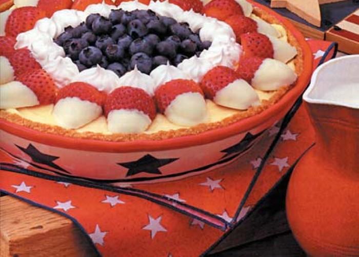 Red, White & Blueberry Pie