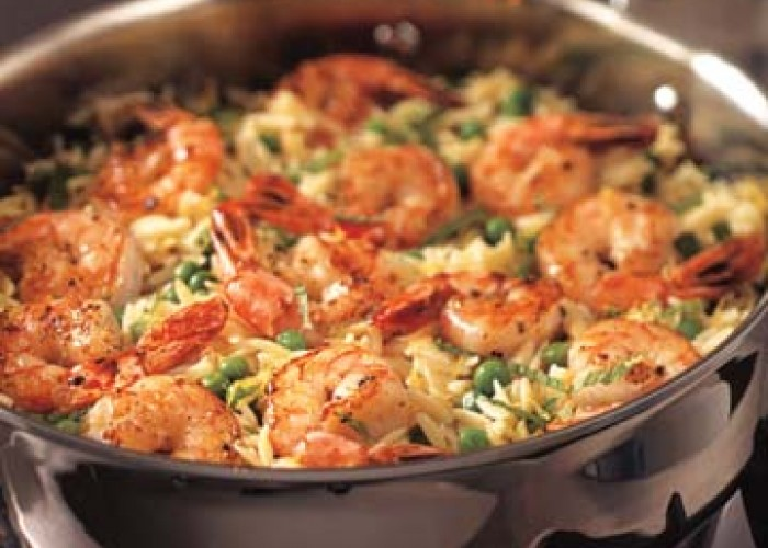 Skillet Shrimp And Orzo Recipe — Dishmaps