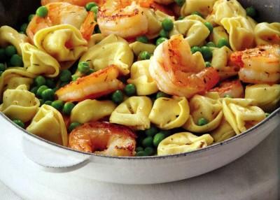 Shrimp Tortellini Pasta Toss