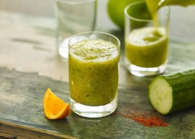 Spiced Cucumber & Apple Juice Booster