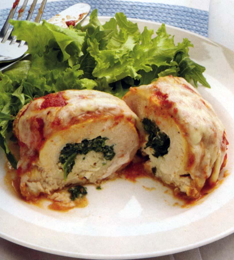 Carolina Country - Spinach-Stuffed Chicken Parmesan