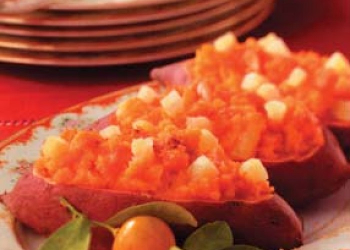 Pineapple Sweet Potato Boats