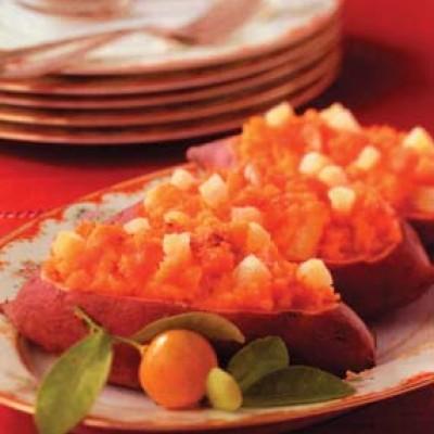 Pineapple Sweet Potato Boats