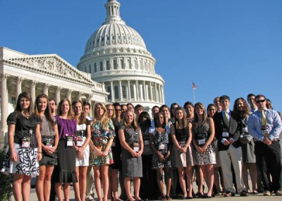 Students represent their cooperatives on the annual tour of Washington, D.C.